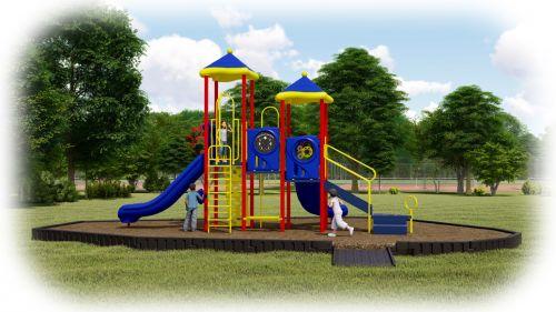 American Parks Company - Head Start Turnkey Playground Bundle - Engineered Wood Fiber
