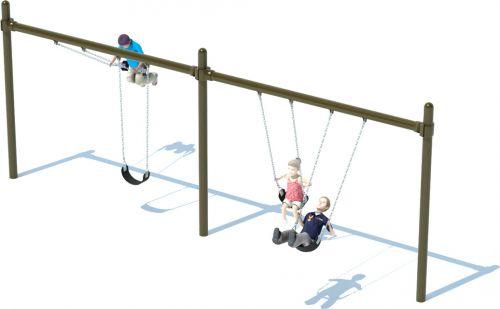 2 Bay Single Post Swing Frame | Swing Sets | American Parks Company