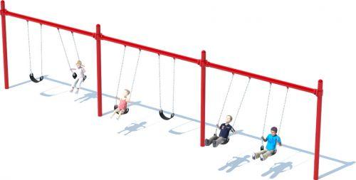 3 Bay Single Post Swing Set | Swing Frames | American Parks Company