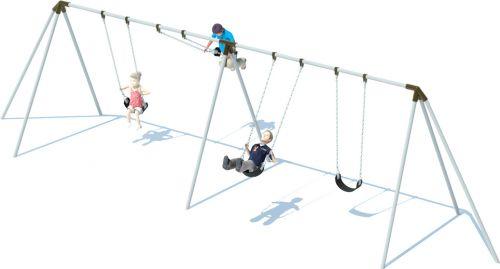 2 Bay Tri-pod Swing Frame | Swing Sets | American Parks Company