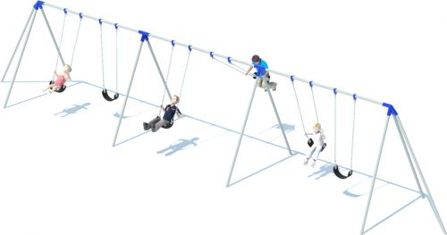 3 Bay Tri-pod Swing Set | Commercial Playground Equipment