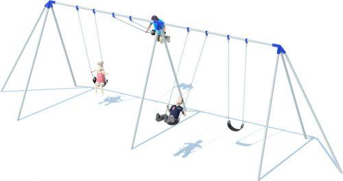 2 Bay 10' Tri-pod Swing Set | Swing Sets | American Parks Company