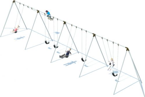 4 Bay 10' Tri-pod Swing Frame | Swing Sets | American Parks Company