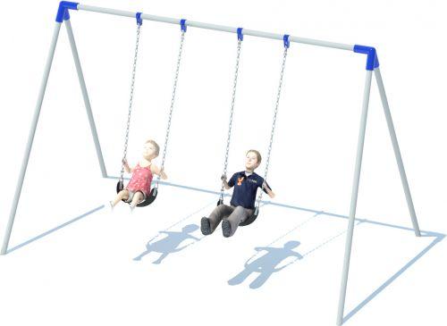 Bi-pod Swing Set | Playground Equipment | American Parks Company