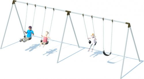 2 Bay Bi-pod Swing Frame | Swing Sets | American Parks Company