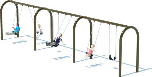 3 Bay Arch Swing Set | Swings | American Parks Company