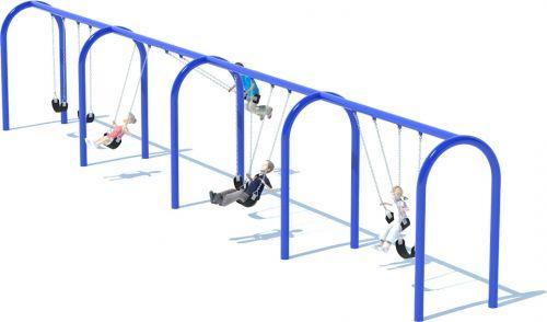 4 Bay Arch Swing Set | Swings | American Parks Company