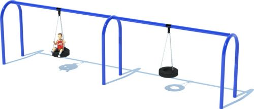 Swing Sets | 2 Bay Arch Tire Swing Frame | American Parks Company