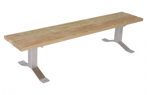 Wood Park Bench without Back - Site Furnishing - Commercial Playground Equipment