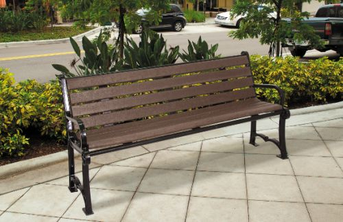 Charleston Recycled Bench - Site Furnishings - Park & Playground Equipment