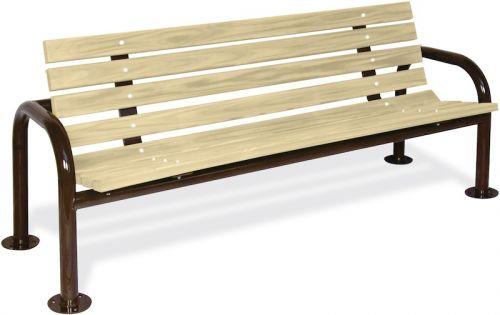 Double Post Contour Wood Bench