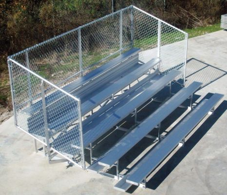 Aluminum Frame Sports Bleacher With Chain Link Fence - Commercial Playground Equipment - American Parks Company