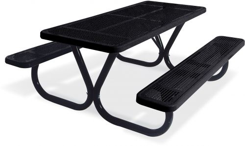 Extra Heavy Duty Bolt-Thru Perforated Metal Table