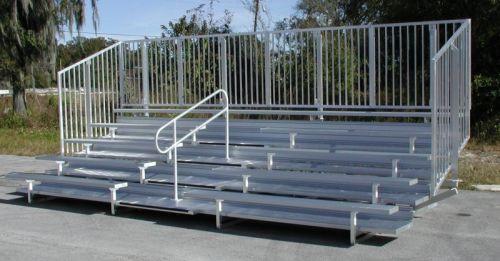 Enclosed Aluminum Bleachers w/ Aisle Handrails - Site Furnishings - American Parks Company