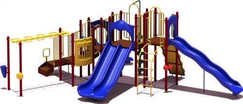 Line Drive - Budget Play Structure - Natural Colors - Front