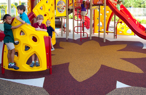 Poured in Place Rubber Safety Surfacing - Commercial Playground Equipment - APCPLAY