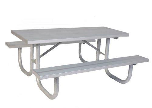 Rectangular Heavy Duty Aluminum Park Table