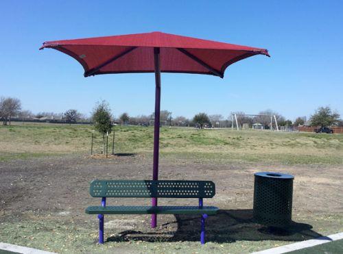 American Parks Company - Shade & Shelter - Single Post Square Fabric Shade