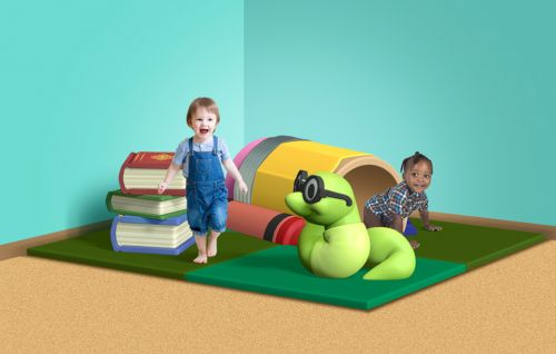 Bookworm's Corner - Front View - Themed Indoor Play Structure