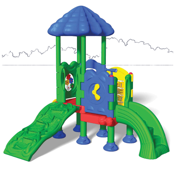 Discovery Center 2 - Back View - Commercial Playground Equipment