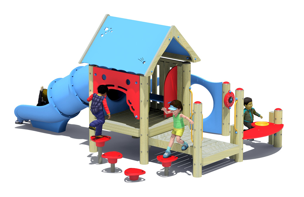 bullpen - commercial playground equipment - 3d view
