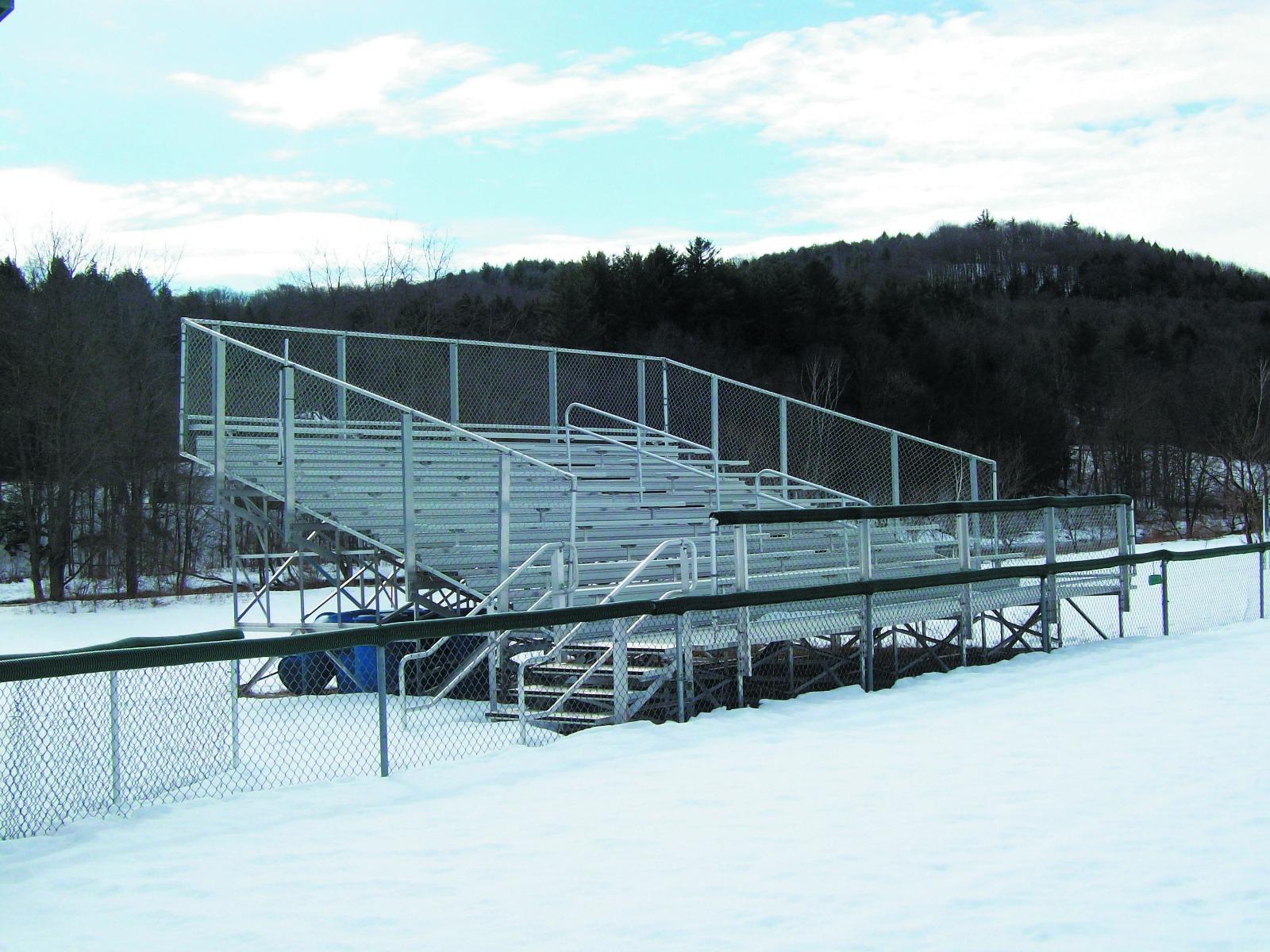 Elevated Bleacher Series w/Chain Link Guardrail