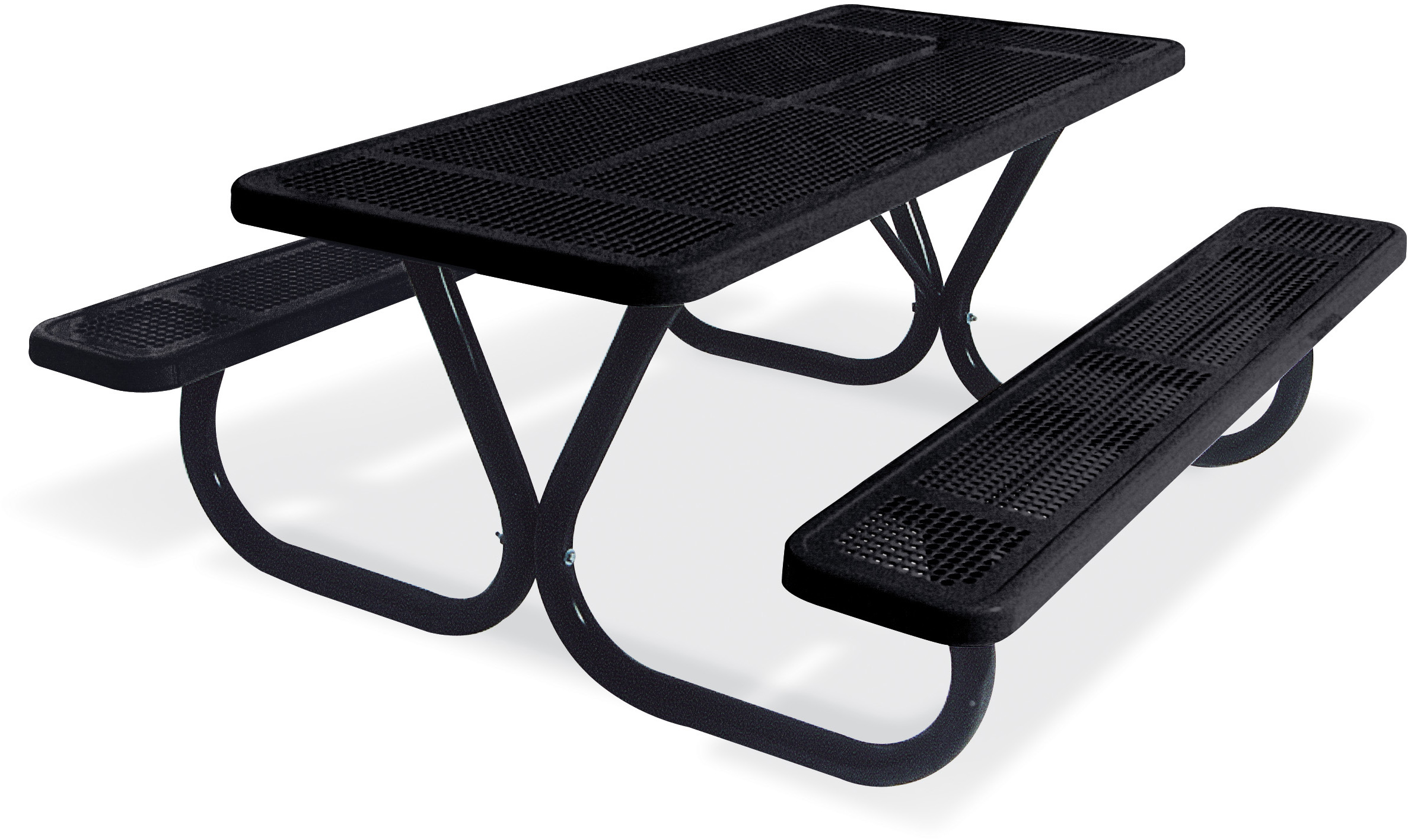 Extra Heavy Duty Boltthru Perforated Metal Table Picnic Tables - Heavy duty picnic table frames