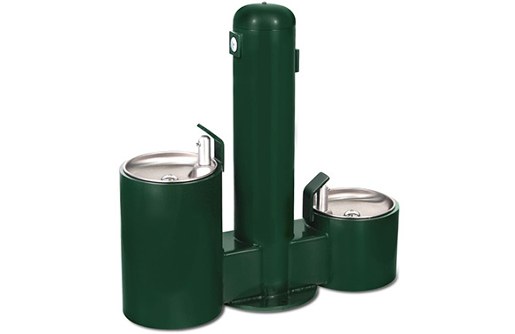 Fido Double Fountain - Dog Park Equipment - American Parks Company