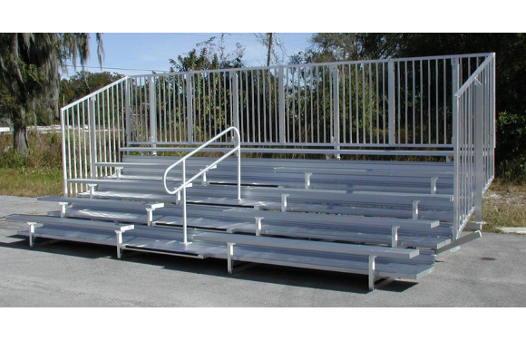 Enclosed Aluminum Bleachers w/ Aisle Handrails - Site Furnishings - American Parks Company