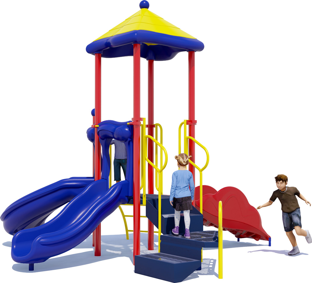 Junior Jam Play Structure - Primary Colors - Rear View