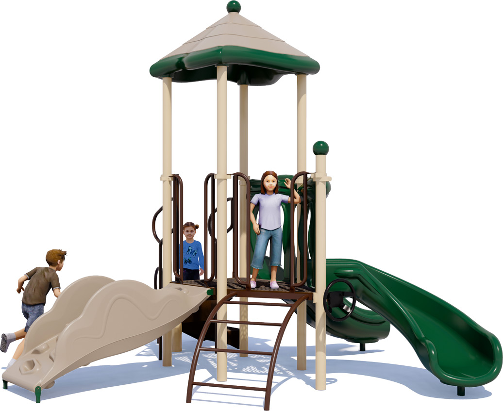 Junior Jam Play Structure - Natural Colors - Front View