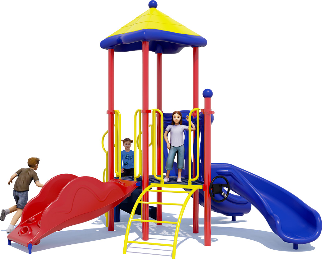 Junior Jam Play Structure - Primary Colors - Front View