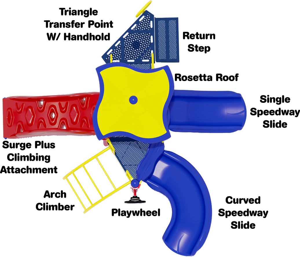 Junior Jam Play Structure - Primary Colors - Top View