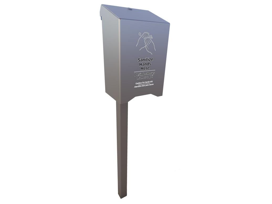 Large Sanitizer Station Post Design - American Parks Company
