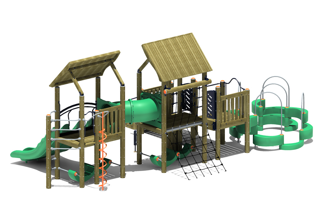 commercial playground equipment - unity - 3D View