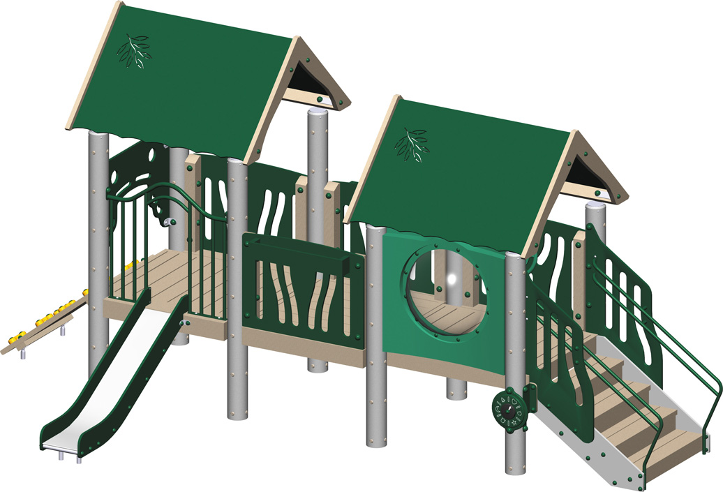 tot city - commercial playground equipment - natural - front