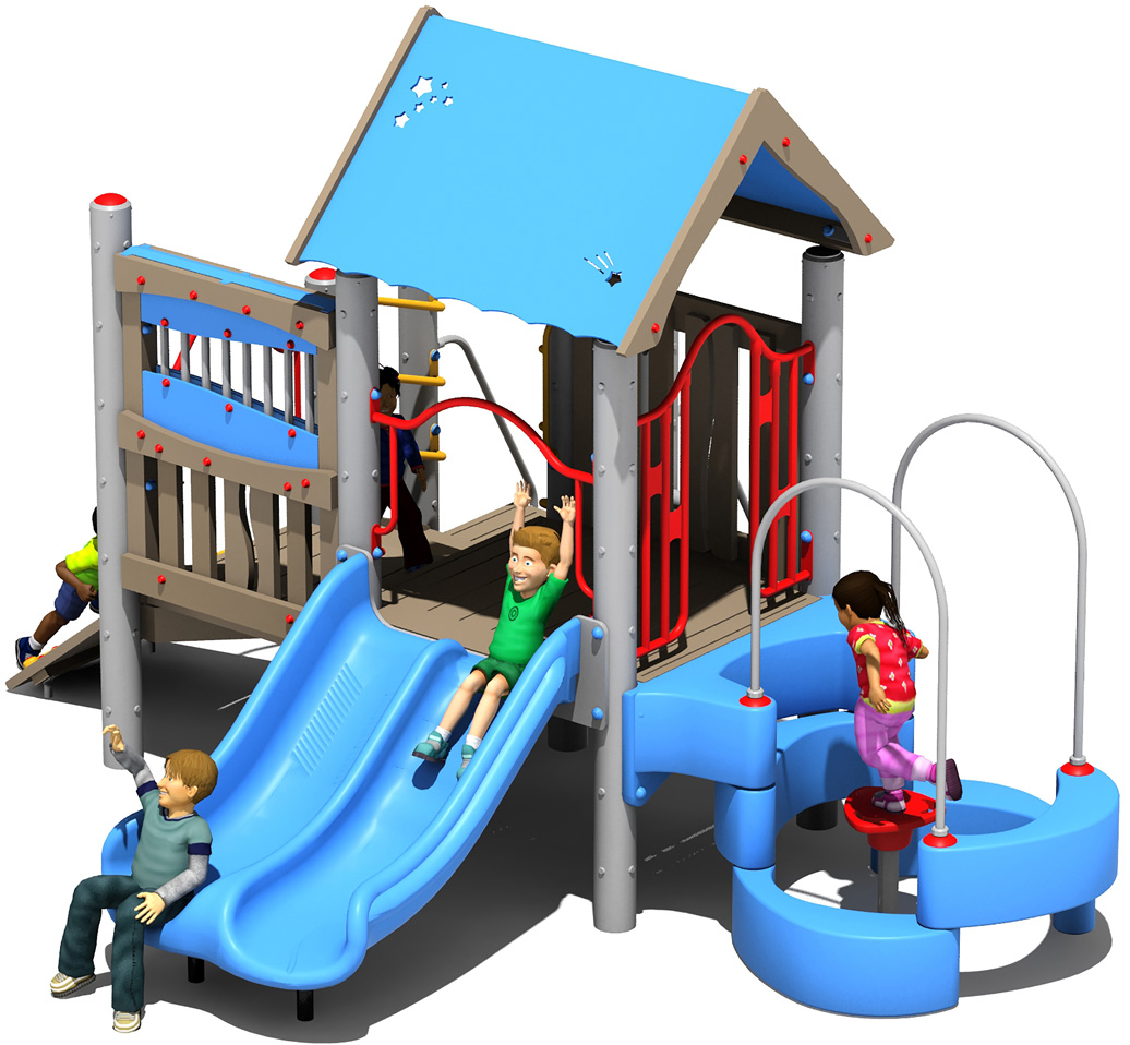 dugout - commercial playground equipment - 3d view