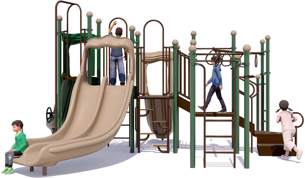 Monkey Maze - Commercial Playground Equipment - Natural Color - back