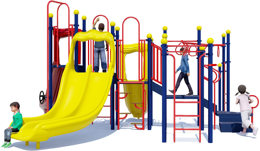 Monkey Maze - Commercial Playground Equipment - Primary Color - Back