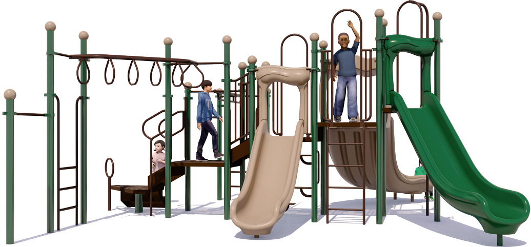 Monkey Maze - Commercial Playground Equipment - Natural Color - Front