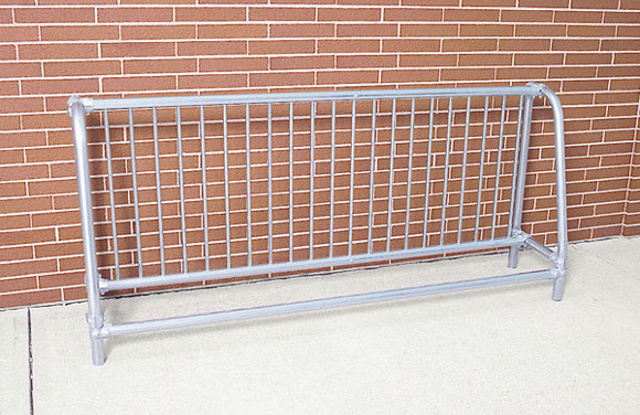 Traditional Single-Sided Bike Rack - Commercial Playground Equipment - Site Furnishings