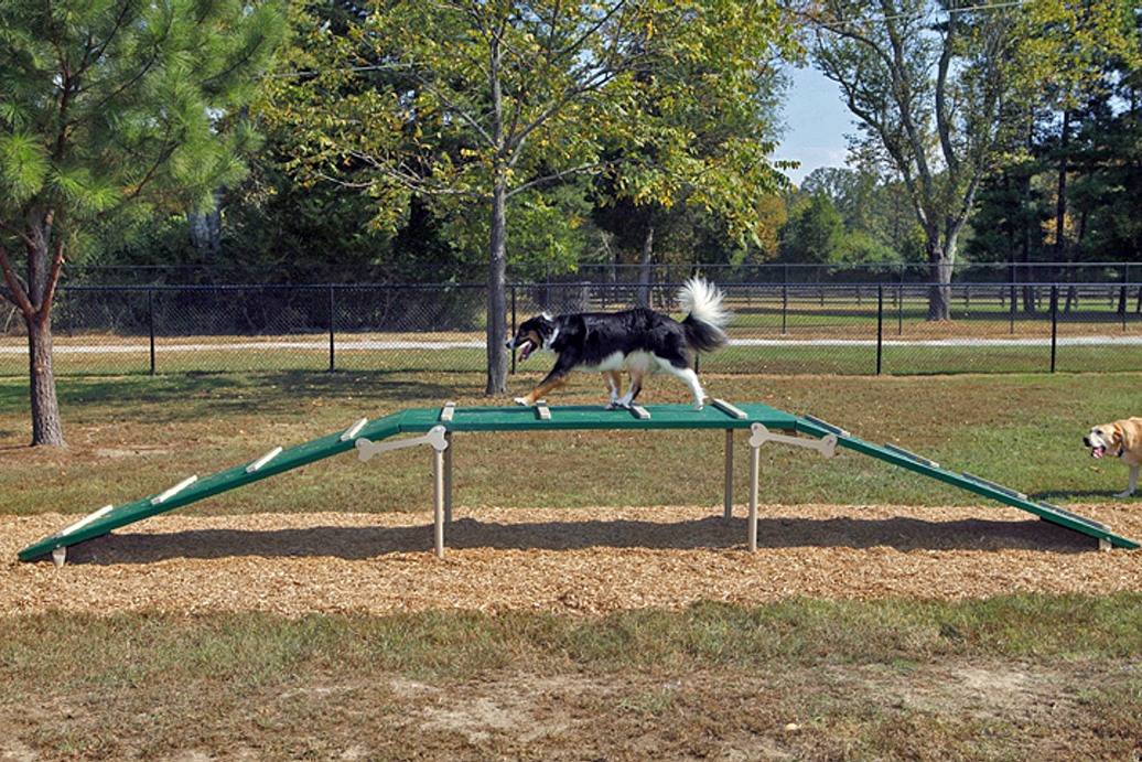 dog walk - natural - front - commercial dog park equipment