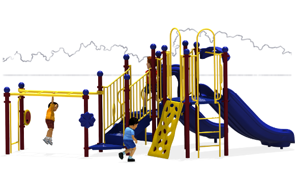Great Escape - Commercial Play Structures - Primary Color Scheme - Back
