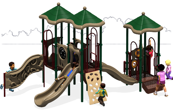 Triple Play - Commercial Playground Equipment - Natural - Back