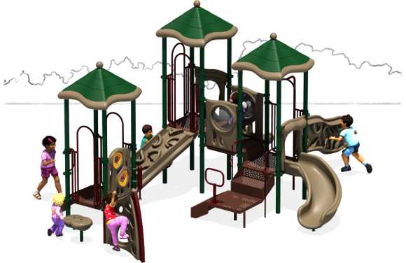 Triple Play - Commercial Playground Equipment - Natural - Front