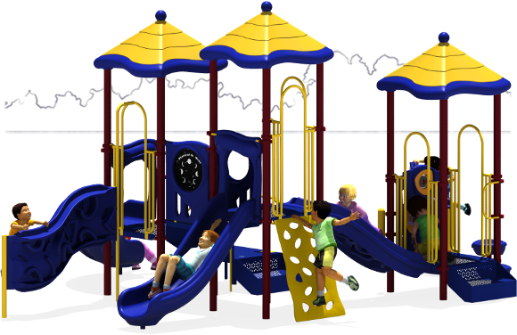 Triple Play - Commercial Playground Equipment - Primary - Back
