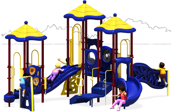 Triple Play - Commercial Playground Equipment - Primary - Front