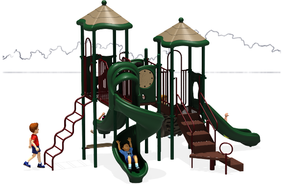 Molly's Mansion - Commercial Playground Equipment - Natural - Front