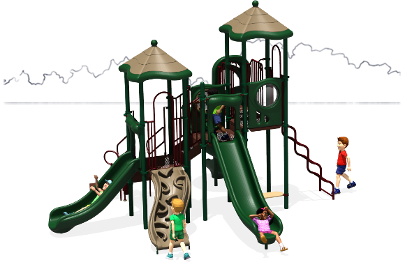 Molly's Mansion - Commercial Playground Equipment - Natural - Back