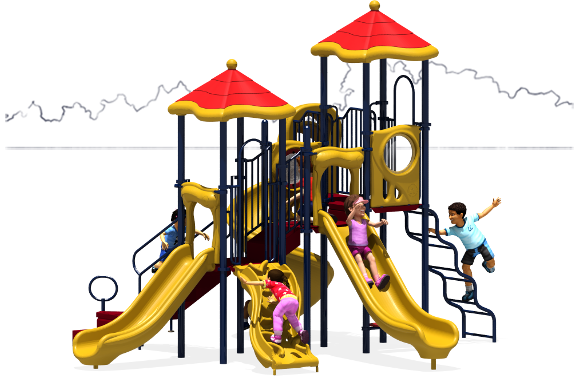 Molly's Mansion - Commercial Playground Equipment - Primary - Back